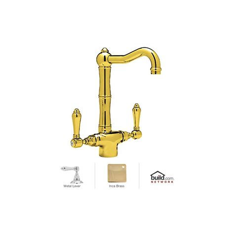 rohl unlacquered brass faucet rohl a1680lmib 2 inca brass country kitchen bar faucet
