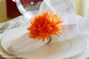 How to Make Tissue Paper Flower Napkin Rings