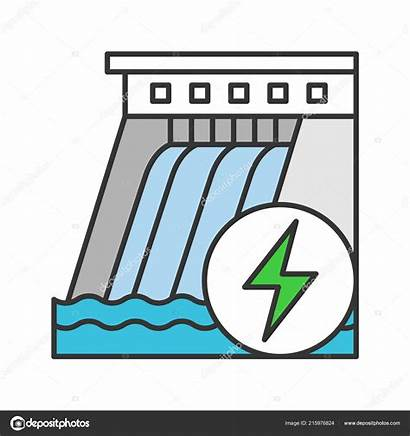 Icon Dam Water Hydroelectric Energy Plant Depositphotos