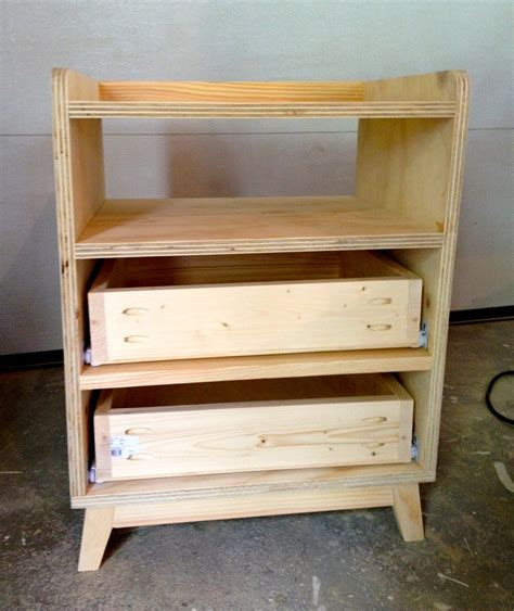 bedside storage ideas unfinished diy bedside nightstand table with storage and drawer made from plywood ideas