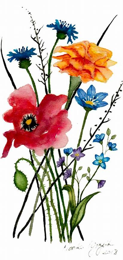 Flowers Painting Wild Watercolor Wildflower Watercolour Society6