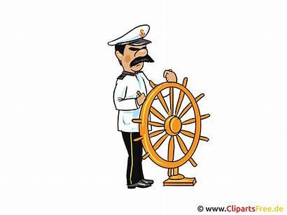 Captain Clip Wheel Steering Clipart Kapitaen Cartoon