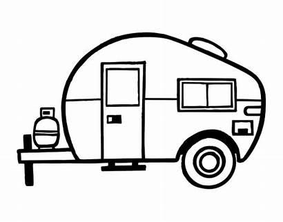 Camper Clipart Happy Caravana Caravan Coloring Caravane