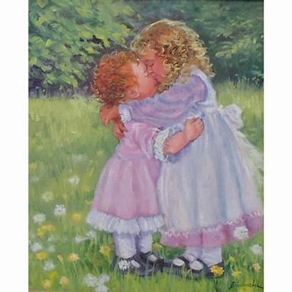Painting Oil Children Joyce Schumacher Seasideartgallery