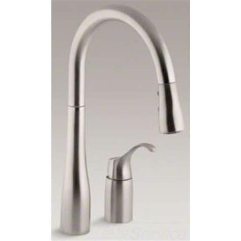 kohler simplice kitchen faucet kohler k 647 vs simplice pull down kitchen faucet stainless ebay