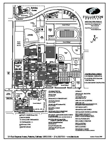 Cal State Fullerton Campus Map