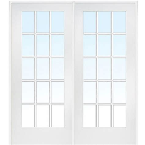 Home Depot Glass Doors Interior by Mmi Door 74 In X 81 75 In Classic Clear Glass 15 Lite