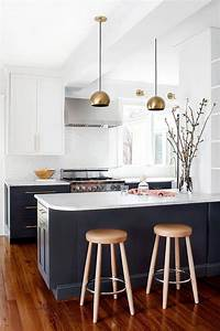 Navy blue kitchen cabinets eclectic kitchen farrow for Kitchen cabinet trends 2018 combined with navy blue and white wall art