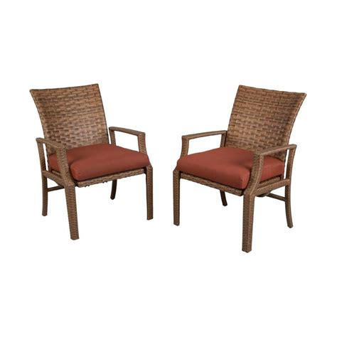 hton bay tobago patio motion dining chair with burgundy