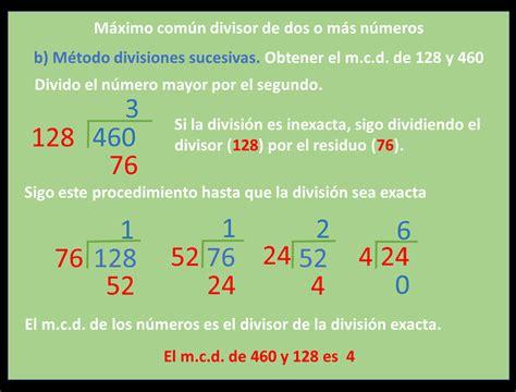 si es de máximo comun divisor matematicas para ti
