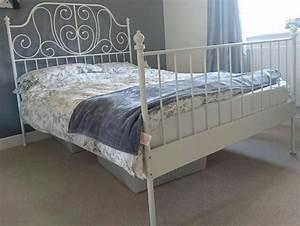 Lit Fer Forgé Ikea : leirvik ikea chambre lit fer forg blanc chambre bed ~ Melissatoandfro.com Idées de Décoration