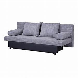 Sofa 2 Sitzer Grau : schlafsofa schlafcouch sofa zoe 2 sitzer in grau mit bettkasten und kissen kunstlederbezug und ~ Markanthonyermac.com Haus und Dekorationen
