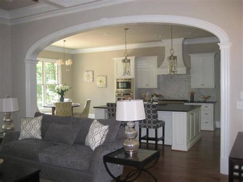 nice big arch separating kitchen  family room arch