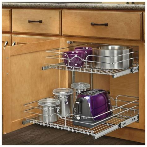 pull  sliding metal kitchen pot cabinet storage