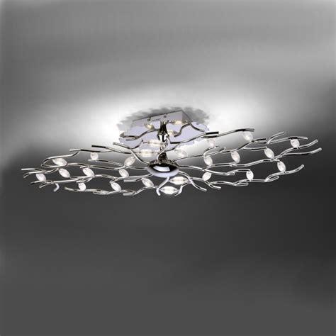 deckenleuchte 100 cm led deckenleuchte florian oval 100 cm chrom wohnlicht