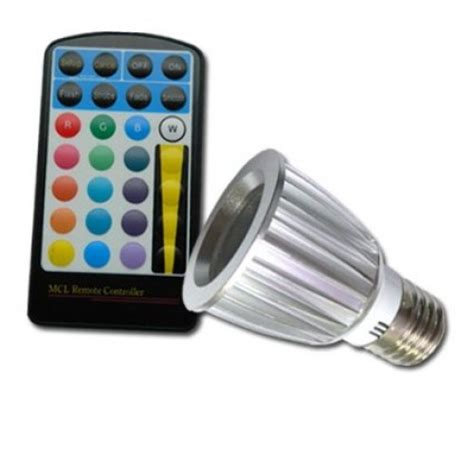 color changing 5w e27 rgb led spot light spotlight bulb