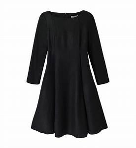 robe evasee en laine bouillie cacharel en noir pour femme With robe laine bouillie
