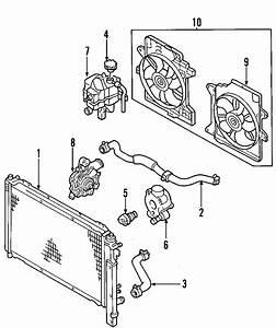 Mercury Mystique Engine Coolant Thermostat Housing