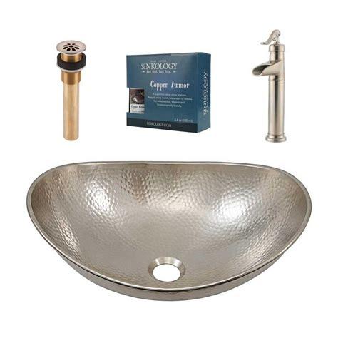 hammered nickel kitchen sink sinkology pfister all in one hobbes design kit nickel 4120