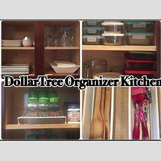 Dollar Tree Kitchen Organization L Kitchen Tour  Youtube