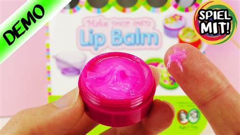 lipgloss selber machen kinder lip balm selber machen make your own lip gloss herstellen demo