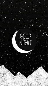 Wallpaper, Good night, stars, céu, moon | Fondos Del ...