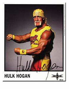 Hulk Hogan Autographed Color 2000 WCW Promo Photo | Flickr ...