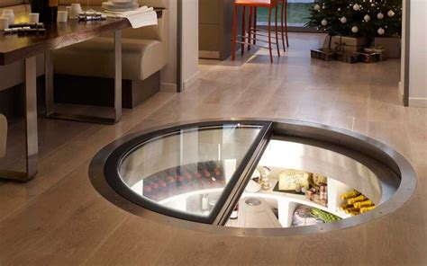 spiral wine cellar in kitchen floor in floor wine cellar blueiskewl 9374