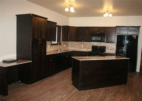 espresso color kitchen cabinets espresso shaker kitchen cabinets user submitted photos