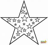 Pages Coloring Star Colouring Printables sketch template