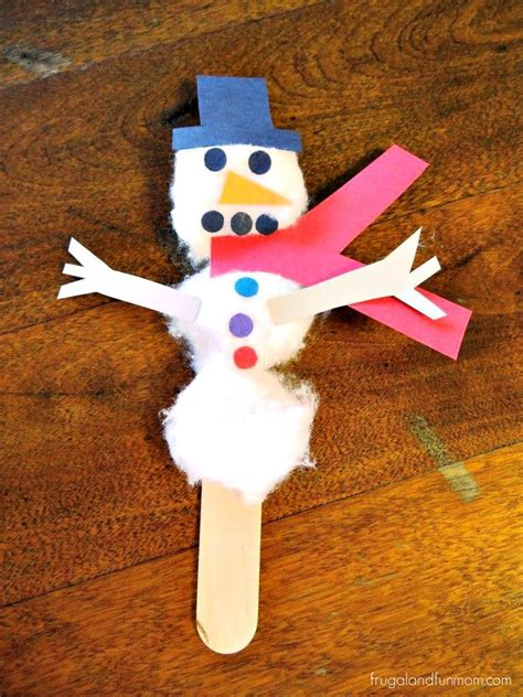 snowman craft  cotton balls  construction paper