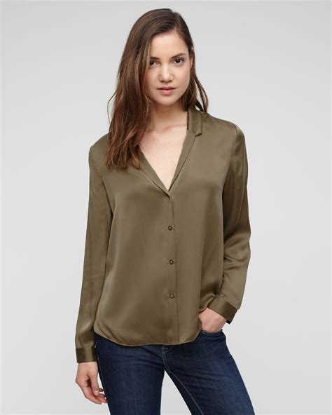 open blouses silk satin open neck blouse jigsaw