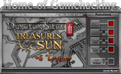 dungeon siege trainer dungeon siege iii treasures of the sun dlc 6 trainer