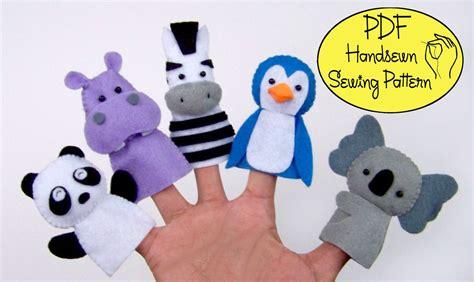 digital pattern zoo friends 02 felt finger puppets