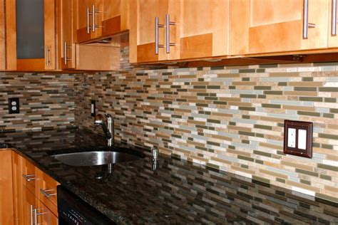 Glass Stone Mosaic Tile Backsplash : New Jersey Custom Tile