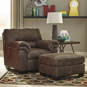Signature, Design, By, Ashley, Bladen, 1200020, 14, Casual, Faux, Leather, Chair, U0026, Ottoman