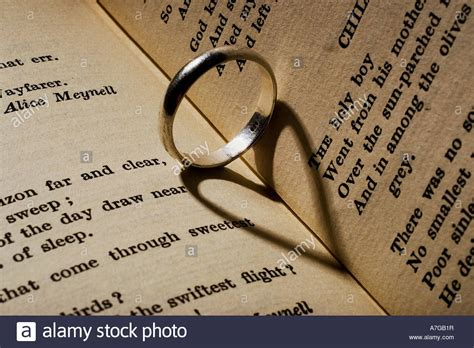 wedding ring a heart shaped shadow a book of stock photo 11832706 alamy