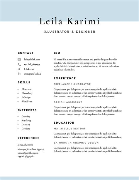 How To Create A Cv by How To Create A Cv Themekeeper