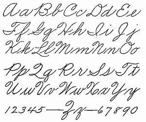Old Style Handwriting Alphabet | handwriting | Pinterest ...
