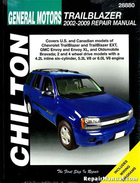 service and repair manuals 2005 chevrolet blazer spare parts catalogs chilton chevrolet trailblazer 2002 2009 repair manual