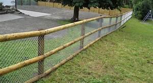 Grillage En Bois : cl ture et portails simple torsion double fils bois ~ Edinachiropracticcenter.com Idées de Décoration