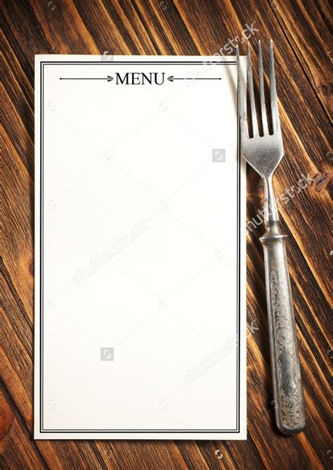 sample blank menu template     psd eps