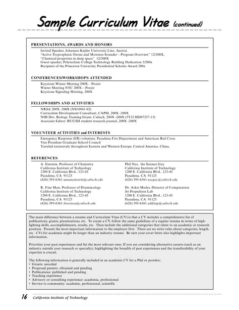 Curriculum Vitae Speaking Engagements by Resume Guide