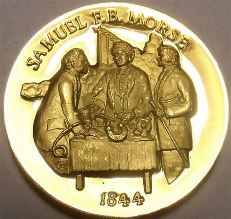 Proof 24k Gold Plated Medallion~samuel Fbmorse~morse