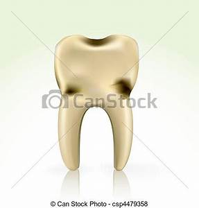 Vector of unhealthy, yellow cavity tooth. better floss and ...