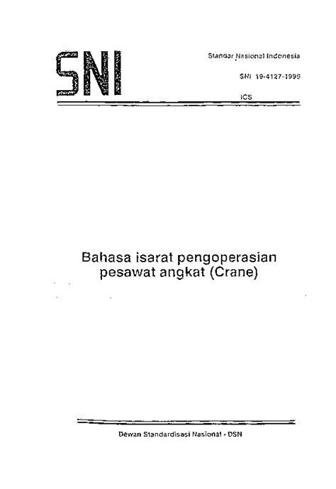 (PDF) Standar Nasional Indonesia Bahasa isarat