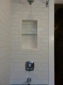 subway tile bathroom ideas recessed shower niches bathroom renovations