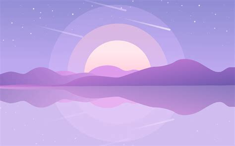 aesthetic purple pc wallpapers