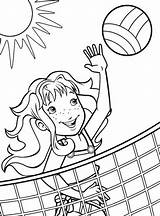 Volleyball Coloring Pages Printable Sports Blocking Quotes Beach Sheets Disney Softball Explore Discover sketch template