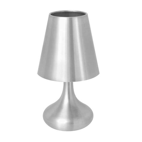 large l shades for table ls lumisource 10 in silver indoor touch table l with